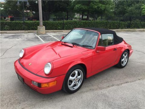 Red 1990 Porsche 911/964 Cabrio for sale