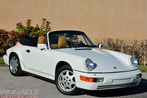 White/Tan1990 Porsche 911 C4 964 Cabriolet for sale
