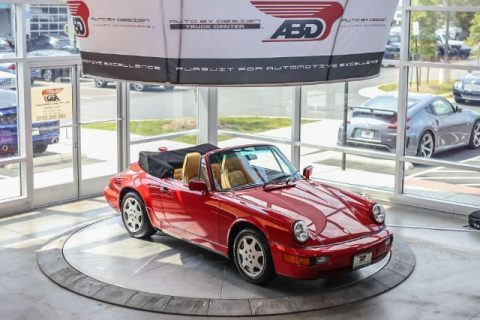 1991 Porsche 911 Carrera 2 Cabriolet Carrera Red for sale